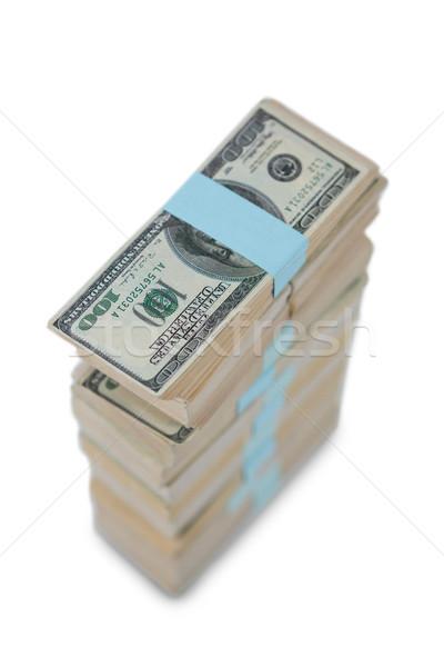 Száz dollár bank jegyzetek fehér üzlet Stock fotó © wavebreak_media