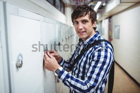 мужчины медсестры цифровой таблетка коридор больницу Сток-фото © wavebreak_media