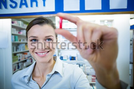 Female patient interacting with doctor during visit Stock photo © wavebreak_media