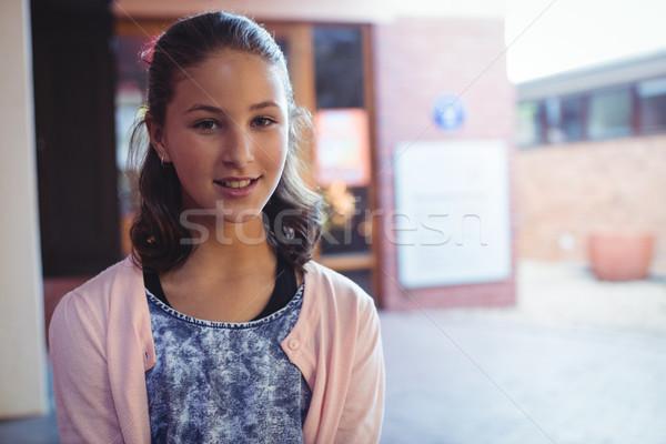 Feliz aluna sessão escolas escola retrato Foto stock © wavebreak_media
