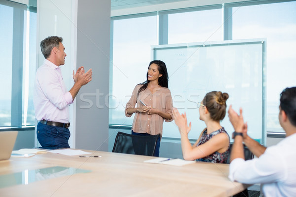 Arkadaşları işkadını konferans salonu ofis iş Stok fotoğraf © wavebreak_media