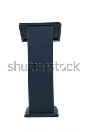 Podium geïsoleerd witte zwarte hout spreker Stockfoto © wavebreak_media
