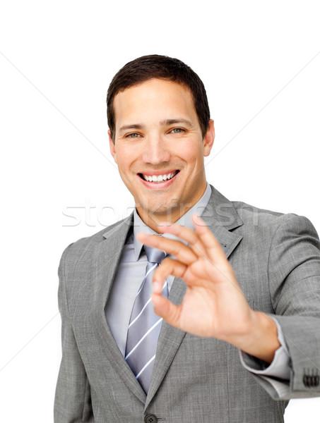 Charming businessman showing OK sign  Stock photo © wavebreak_media