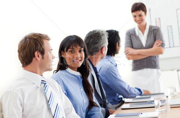 ビジネスの方々  民族の多様性 会議 オフィス ビジネス ストックフォト © wavebreak_media