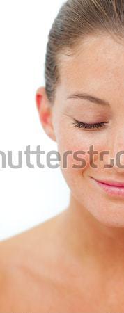 Mosolygó nő spa kezelés egészség központ arc nők Stock fotó © wavebreak_media