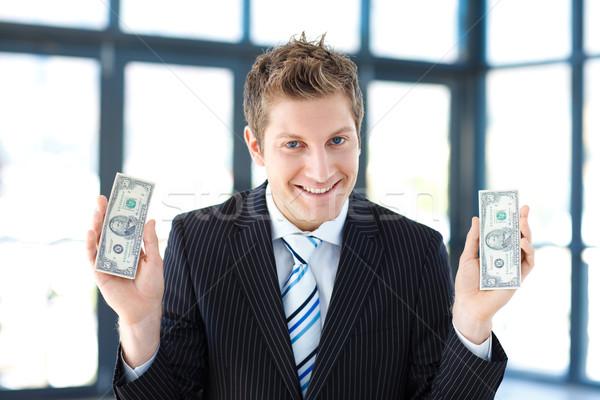 Genç işadamı para ofis eller Stok fotoğraf © wavebreak_media