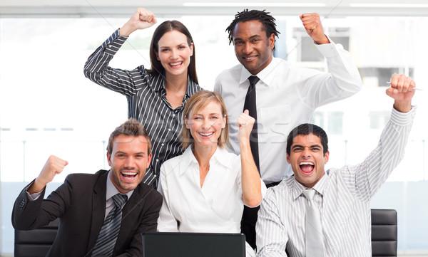 Enthusiastic business team celebrating success Stock photo © wavebreak_media