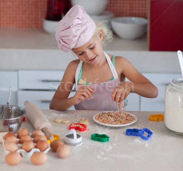 Agradable hija cocina familia alimentos Foto stock © wavebreak_media