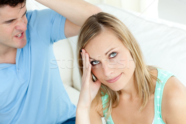 Stressed couple having an argue in the living-room Stock photo © wavebreak_media