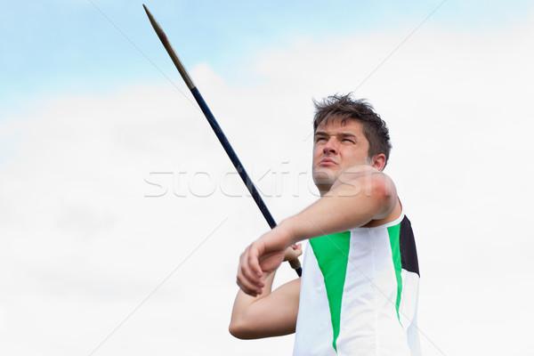 определенный спортсмен спорт области синий Сток-фото © wavebreak_media