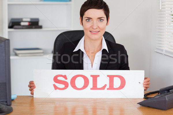Cute vendido panel oficina casa Foto stock © wavebreak_media
