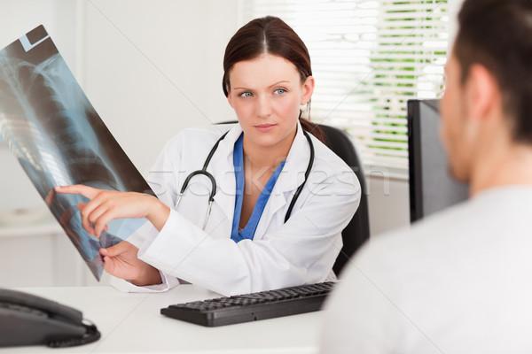 женщины врач пациент Xray человека Сток-фото © wavebreak_media