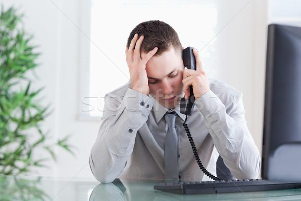 печально бизнесмен Плохие новости телефон работу Сток-фото © wavebreak_media