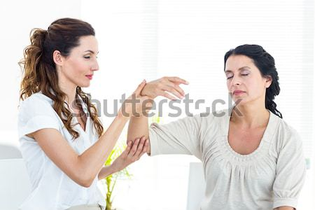 Young couple having a fight against a white background Stock photo © wavebreak_media