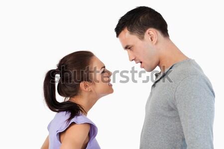 Krise weiß Liebe Hintergrund schreien Stock foto © wavebreak_media