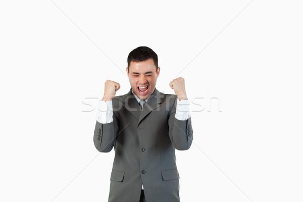 Exitoso empresario hasta blanco oficina sonrisa Foto stock © wavebreak_media