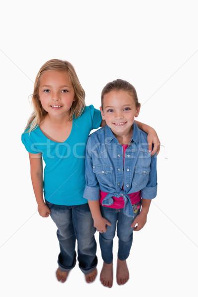 Portret meisjes poseren witte familie meisje Stockfoto © wavebreak_media