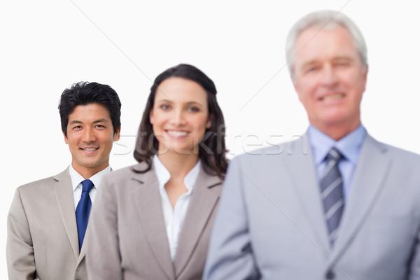 Senior zakenman team witte business pak Stockfoto © wavebreak_media