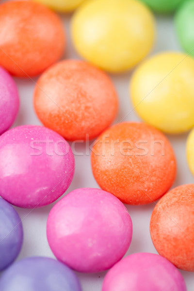 Close-up of chocolate sweetmeat against a white background Stock photo © wavebreak_media