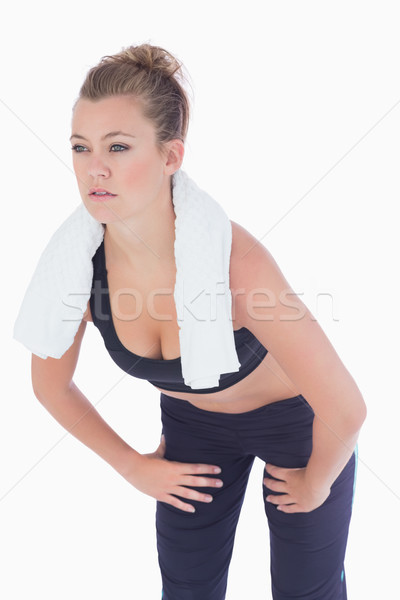 Woman looking strained after work out Stock photo © wavebreak_media
