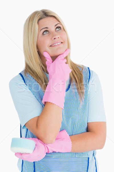 Cleaner pensare bianco donna femminile Foto d'archivio © wavebreak_media
