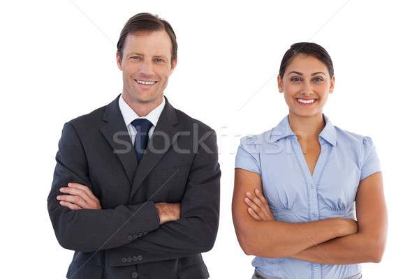 Smiling co workers standing next to each other Stock photo © wavebreak_media