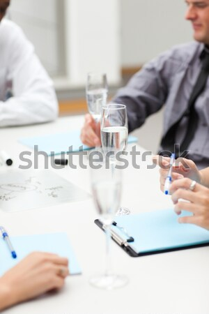 Stock photo: Businessman writing in diary