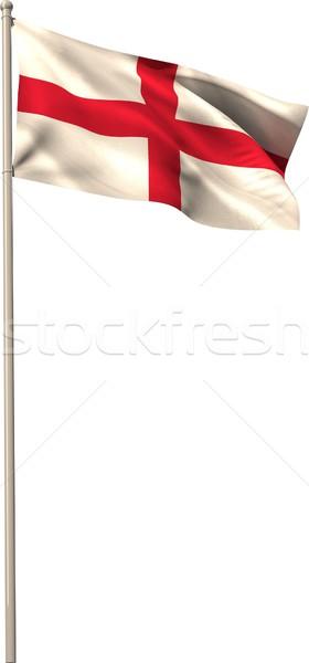 Digitalmente generado Inglaterra bandera blanco Foto stock © wavebreak_media
