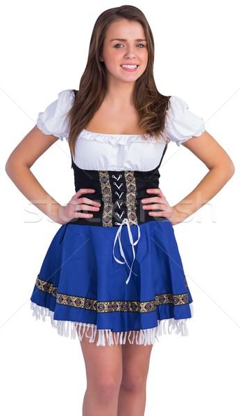 Oktoberfest girl smiling at camera Stock photo © wavebreak_media
