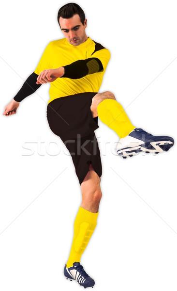 Giallo calci bianco calcio calcio Foto d'archivio © wavebreak_media