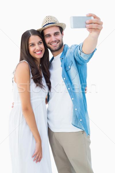 Gelukkig paar foto vrouwelijke Stockfoto © wavebreak_media
