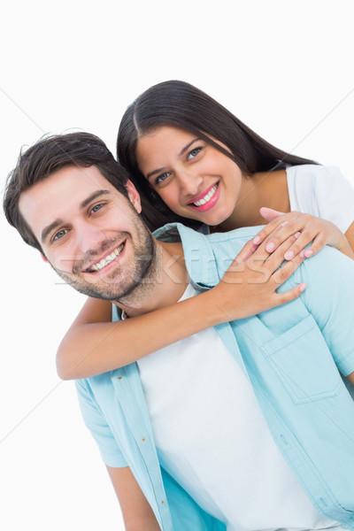 Feliz casual hombre bastante compañera Foto stock © wavebreak_media