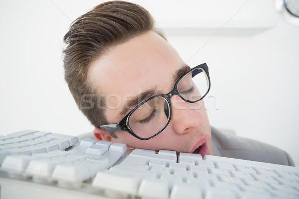 üzletember alszik billentyűzet iroda üzlet technológia Stock fotó © wavebreak_media