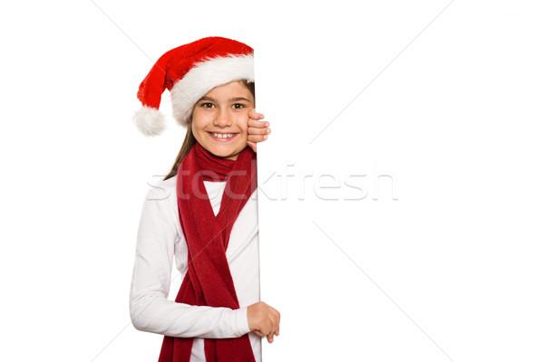 девочку карт белый счастливым Сток-фото © wavebreak_media