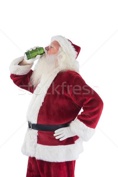 Padre Natale bevande birra bianco Foto d'archivio © wavebreak_media