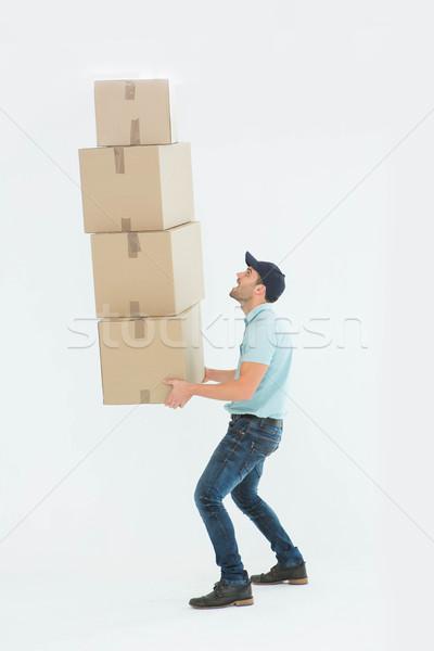 Stock foto: Schockiert · tragen · Boxen
