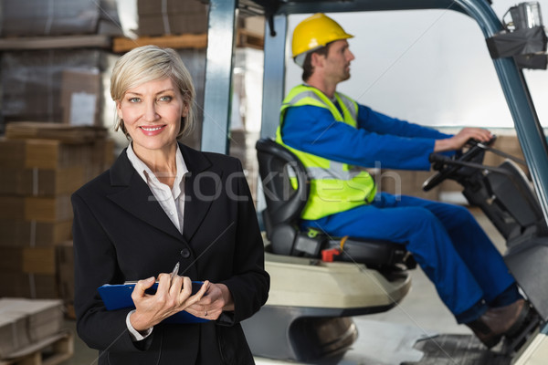 Manager standing in front of his employee Stock photo © wavebreak_media