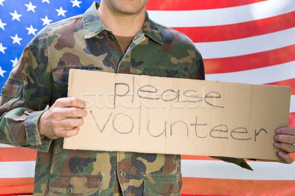 アメリカン 兵士 募集 にログイン アメリカンフラグ ストックフォト © wavebreak_media
