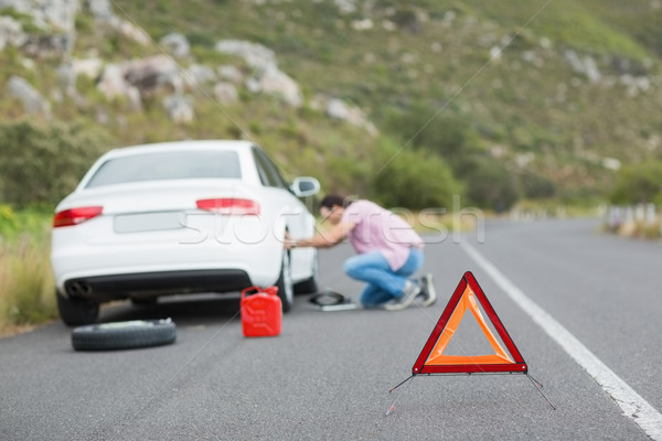 Man changing wheel after a car breakdown  Stock photo © wavebreak_media