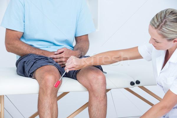 Arts knie patiënt medische kantoor man Stockfoto © wavebreak_media