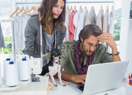 Femme d'affaires collègue bureau ordinateur gens d'affaires président Photo stock © wavebreak_media