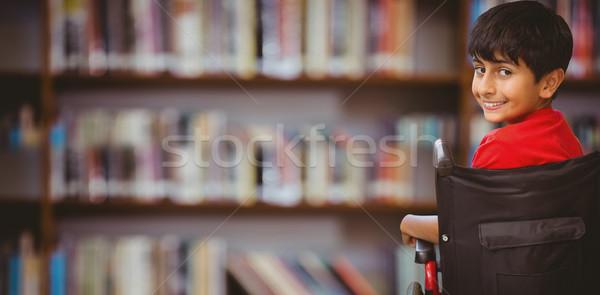 画像 少年 座って 車いす 男子生徒 ストックフォト © wavebreak_media