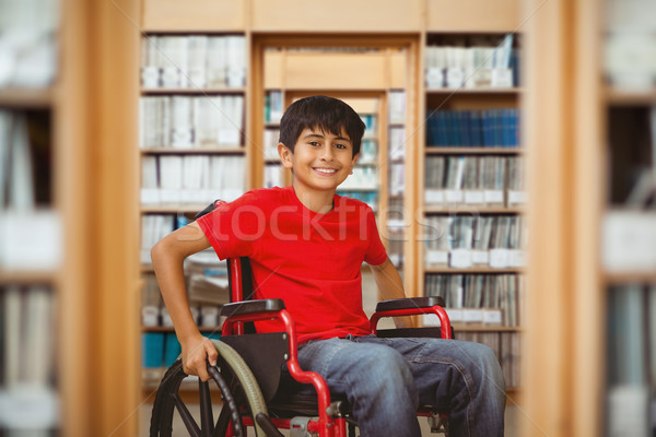 Image portrait garçon séance fauteuil roulant Photo stock © wavebreak_media