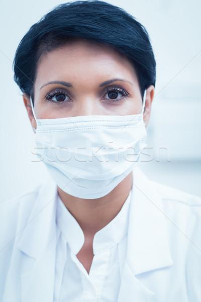 女性 歯科 着用 外科手術用マスク 肖像 仕事 ストックフォト © wavebreak_media