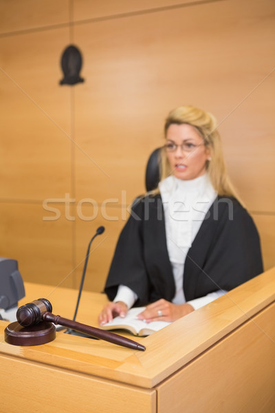 Stern judge speaking to the court Stock photo © wavebreak_media