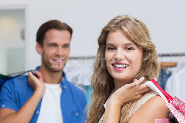 Portre mutlu çift giyim depolamak Stok fotoğraf © wavebreak_media