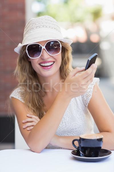 Bastante mujer texto retrato Foto stock © wavebreak_media