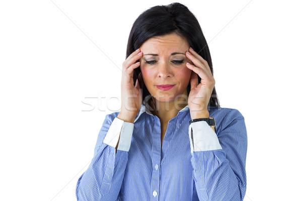 Empresária dor de cabeça branco mulher saúde corporativo Foto stock © wavebreak_media