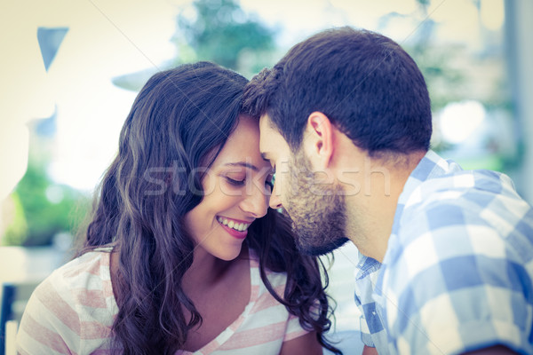 Cute couple putting foreheads against each others Stock photo © wavebreak_media