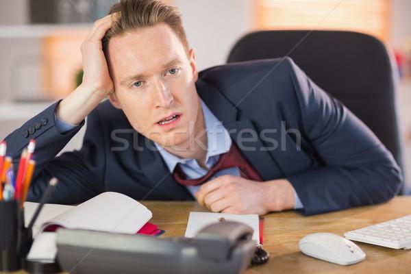 Agotado empresario de trabajo escritorio oficina ratón Foto stock © wavebreak_media